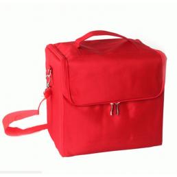 Кейс для косметики в чехле с органайзером 2-1005 Красный