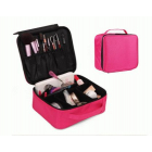 Компактный косметический кейс для хранения косметики и инструментов 2-1001 Ярко-розовый