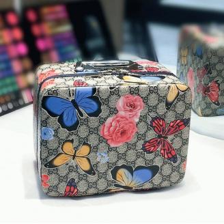 Кейс чемоданчик для косметики с выдвижной полочкой с яркими принтами 4-1018-2