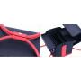 Бьюти кейс для косметики из фактурной кожи Crown Cosmetics 2-1010 Черно-красный