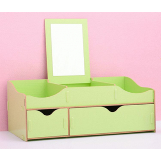 Сборный органайзер для косметики с зеркалом(2 ящика) 5-1075-2 Зеленый