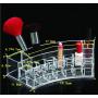 Большой полукруглый органайзер для косметики на 18 слотов 5-1025-1