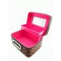 Кейс чемоданчик для косметики с выдвижной полочкой с яркими принтами 4-1018-5