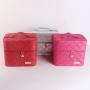 Кейс сундучок для косметики Casi Heavenly (2 полки) Розовый ромб