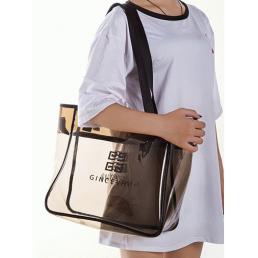 Большая сумка для косметики из ПВХ 1-1022 XXL Gray
