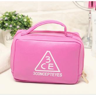 Большая косметичка 3 Concept Eyes с органайзером для кистей (выбор размеров) 4-1004-1 Малиновая