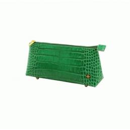 Косметичка из натуральной кожи Dimanche Casino зеленая