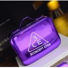 Зеркальный кейс чемоданчик для косметики 3 Concept Eyes с ремнями-фиксаторами 4-1024-8 Фиолетовый