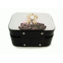 Чемоданчик для косметики с выдвижной полочкой 3-1043-1 Черный с девочкой