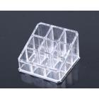 Акриловый органайзер для косметики прозрачный 9 слотов (3 x 3) 5-1005-1
