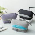 Большая косметичка с двойным дном Travel Bag сиреневая 1-1043-4