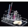 Акриловый органайзер для косметики прозрачный комод+стойка 5-1038-2