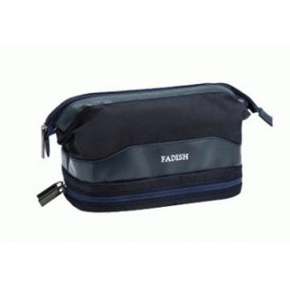 Мужская косметичка с карманом для полотенца Fadish 1-1013-5 Синяя