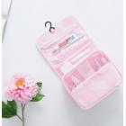 Дорожная раскладная косметичка с крючком Fadish розовая