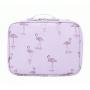 Косметичка кейс для путешествий 1-1010 Фламинго Белый