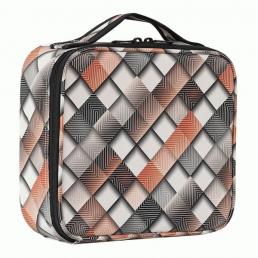 Компактный кейс для косметики с принтом 2-1015-1