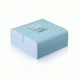 Шкатулка для украшений  C-ButterFly голубая  3-1074-1