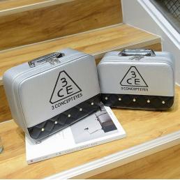 Двухцветный кейс чемоданчик 3 Concept Eyes со стразами 4-1022-4 Серебристый-черный