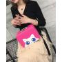 """Кейс чемоданчик для косметики """"Котик с голубыми глазками"""" 4-1027-1 Малиновый"""