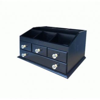 Деревянный органайзер для косметики 5-1069-1 Черный/фурнитура акрил.