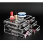 Акриловый органайзер для косметики прозрачный комод+стойка 5-1001-5