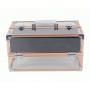 Раскладной прозрачный бьюти кейс для косметики (4 полки) 7-1001-1