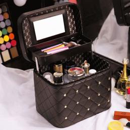 Кейс для косметики со стразами Krey Diamond (1 полка) Черный 4-1046-2