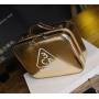 Зеркальный кейс чемоданчик для косметики 3 Concept Eyes с ремнями-фиксаторами 4-1024-1 Золотой