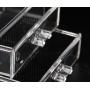 Комод акриловый 3 уровня 4 ящика прозрачный 5-1039-5