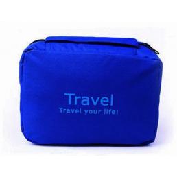 Современная дорожная косметичка органайзер Travel Your Life! Темно-синяя