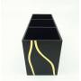 Большая черная стойка для косметики 3 слота 5-1021-1