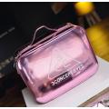Зеркальный кейс чемоданчик для косметики 3 Concept Eyes с ремнями-фиксаторами 4-1024-9 Розовое золото