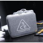 Чемоданчик для косметики с выдвижной полочкой 3CE перламутровый 4-1041-1