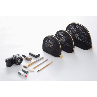 Изящная косметичка из кружевной ткани Fadish черная