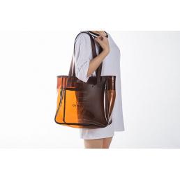 Пляжная сумка для косметики из ПВХ 1-1022 XXL Brown