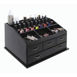 Деревянный органайзер для косметики 5-1066-1 Черный