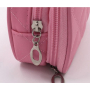 Компактная косметичка органайзер с 2-мя отделениями и зеркалом 8-1001-4 Розовая