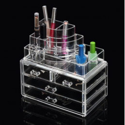 Акриловый органайзер для косметики прозрачный комод+стойка 5-1001-9