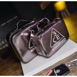 Зеркальный кейс чемоданчик для косметики 3 Concept Eyes с ремнями-фиксаторами 4-1024-4 Серый графит