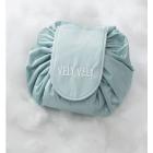 Вместительная косметичка на затяжке Vely Vely 1-1030 Голубая