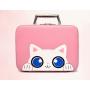 """Кейс чемоданчик для косметики """"Котик с голубыми глазками"""" 4-1027-7 Розовый"""