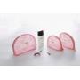 Изящная косметичка из кружевной ткани Fadish розовая