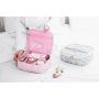 Косметичка кейс для путешествий 1-1010 Альпака Розовый