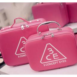 Кейс для косметики 3 Concept Eyes с лямкой на плечо 4-1023-2 Розовый