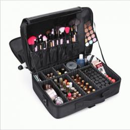 Большой профессиональный косметический кейс органайзер визажиста 2-1003-1 Черный