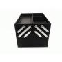 Бьюти кейс для косметики из гладкой кожи Crown Cosmetics 2-1010 Черный