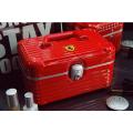 Дорожный кейс сундучок для косметики с замком из ABS пластика и алюминия Ferrari 6-1003-1 Красный