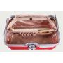 Дорожный кейс сундучок для косметики с замком из ABS пластика и алюминия 6-1003-1 Красный