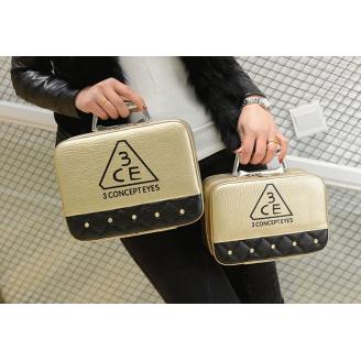 Двухцветный кейс чемоданчик 3 Concept Eyes со стразами 4-1022-5 Золотистый-черный