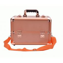 Профессиональный кейс визажиста 7-1044-2 Розовое золото